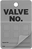 Valve Numbering Tags with Laminating Flap