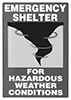 Glow-in-the-Dark Emergency Shelter Signs