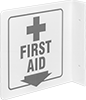Flange-Mount First-Aid Signs