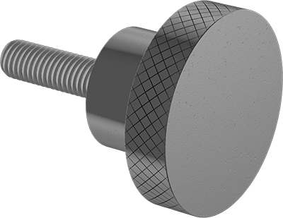 18-8 Stainless Steel Knurled-Head Thumb Screw Thread Size M5-0.8 Low-Profile