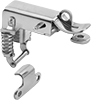 Corner-Mount Tight-Hold Padlockable Draw Latches with Safety Catch