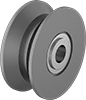 Shaft-Mount V-Groove Track Rollers