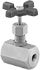 Panel-Mount High-Pressure Threaded Precision Flow-Adjustment Valves