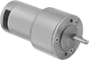 Compact Round-Face DC Gearmotors