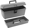 Storage Boxes with Removable Tote Tray