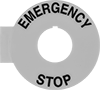 Labels for 22 mm Emergency Stop Panel-Mount Push-Button Switches