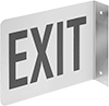 Flange-Mount Glow-in-the-Dark Exit Signs