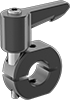 Top-and-Bottom Mount Quick-Release Clamping Shaft Collars