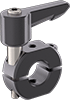 Top-and-Bottom Mount Two-Piece Quick-Release Clamping Shaft Collars