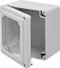 Fiberglass Corrosion-Resistant Washdown Enclosures with See-Through Cover