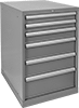 Heavy Duty Bench-Height Drawer Cabinets with Compartmented Drawers