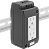 GFCI DIN-Rail Mount Straight-Blade Receptacles