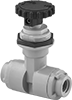 Plastic Threaded Precision Flow-Adjustment Valves