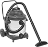 Pump-Out Plug-In Wet/Dry Vacuum Cleaners with Stainless Steel Tank