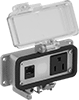 Enclosure-Mount Aluminum Power and Data Outlet Boxes