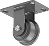 High-Capacity Flanged-Wheel Track Casters with Metal Wheels