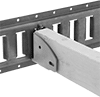 Wood-Beam Brackets for Snap-In Load-Securing Track