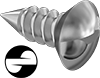 One-Way Oval Head Screws for Sheet Metal