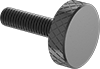 Steel Low-Profile Knurled-Head Thumb Screws