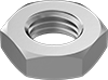 Metric Fine-Thread Medium-Strength Steel Thin Hex Nuts