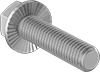 Medium-Strength Metric Class 8.8 Steel Serrated-Flange Hex Head Screws