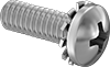 Stainless Steel Pan Head Screws with External-Tooth Lock Washer