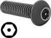Alloy Steel Tamper-Resistant Button Head Hex Drive Screws