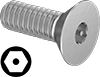 Tamper-Resistant Hex Drive Flat Head Screws