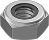 Low-Strength Steel Thin Nylon-Insert Locknuts