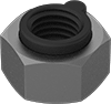 Medium-Strength Steel Extra-Wide Steel-Insert Locknuts for Extreme Vibration—Grade 5