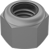 High-Strength Steel Nylon-Insert Locknuts—Grade 8