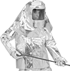 Heat-Reflective Aluminized Clothing