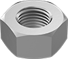 Metric Fine-Thread Low-Strength Steel Hex Nuts