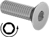 Metric Left-Hand Threaded Flat Head Screws