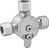 Temperature-Regulating Valves with Compression Fittings for Water