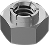 Stainless Steel Flex-Top Locknuts for Heavy Vibration