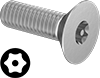 Metric Tamper-Resistant Torx Flat Head Screws