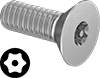 Tamper-Resistant Torx Flat Head Screws