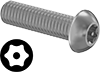 Metric Stainless Steel Tamper-Resistant Button Head Torx Screws