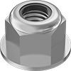 Metric Medium-Strength Steel Nylon-Insert Flange Locknuts—Class 8