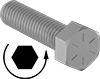 Left-Hand Threaded High-Strength Steel Hex Head Screws