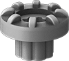 Extreme-Temperature Ribbed Vibration-Damping Bushings