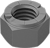 Extreme-Strength Steel Top-Lock Distorted-Thread Locknuts