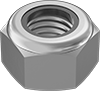 Metric 18-8 Stainless Steel Nylon-Insert Locknuts