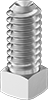 18-8 Stainless Steel Square-Head Cup-Point Set Screws