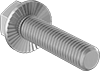 High-Strength Grade 8 Steel Serrated-Flange Hex Head Screws