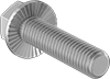 18-8 Stainless Steel Serrated-Flange Hex Head Screws