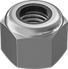 Super-Corrosion-Resistant 316 Stainless Steel Extra-Wide Nylon-Insert Locknuts