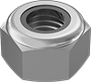 Metric High-Strength Steel Nylon-Insert Locknuts—Class 10