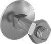 Medium-Strength Grade 5 Steel Square-Neck Elevator Bolts